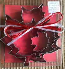3 Pack Maple Leaf Cookie Cutter Trio In Gift Box