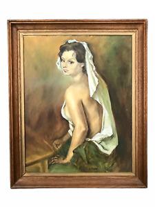'Draped Figure' - Sean McKay Original Vintage Oil Painting on Board
