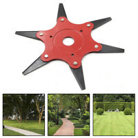 Trimmer Head 6 Steel Blades Razors Lawn Mower Grass Weed Remover Cutter NICE