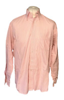"Tommy Hilfiger Men's Casual Shirt Pink White Striped 16"" L 34-35 Cotton Marks"