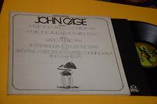 JOHN CAGE LP TOP AVANT GARDE EXPERIMENTAL ITALY 1974 EX+ GATEFOLD INNER TOP