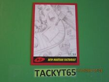 2017 MARS ATTACKS: THE REVENGE PENCIL SKETCH RED BORDER CARD P-7 #'d 17/99