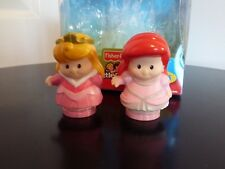 Fisher Price Disney Princess Little People Ariel & Aurora figures