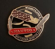 NAUVOO TEMPLE LDS WHISTLING & WHITTLING BRIGADE Lapel Pin