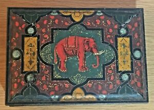 VINTAGE PASCALL SWEET & CHOCOLATES TIN ~ ELEPHANT DESIGN