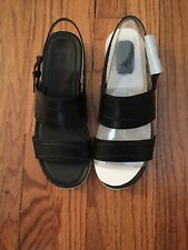 NEW Naturalizer Sandals Black With White Sole Size 8W