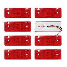 LED Seitenmarkierung Position Rot Licht 12V Lampe LKW Anhänger LKW 8er Set