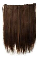 Postiche Large Extensions Cheveux 5 Clips Lisse Marron Doré 45cm L30173-12