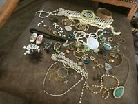 Wholesale Jewelry  Junk Drawer Lot Necklaces Rings Earring Pearls Art