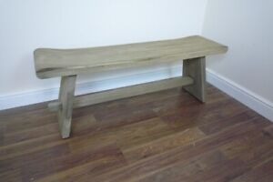 French Farmhouse Wooden Bench - Handmade Solid Wood Bench