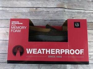 Weatherproof Mens Memory Foam Mens House Slippers Large 9.5x10.5..j6