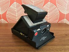 Polaroid SX-70 Land Camera Alpha 1 Nero-Testato & Lavoro Vintage impossibili