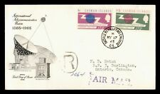 DR WHO 1965 CAYMAN ISLANDS FDC INTL TELECOMMUNICATION UNION CENTENARY C236057