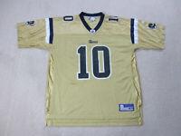 Reebok Marc Bulger St Louis Rams Football Jersey Adult Extra Large Gold Blue *