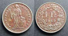 Suisse 1 Franc Helvetia 1969 Berne