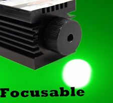 Focusable 12V 532nm 100mW TTL Green Laser Module/Solid Industrial Design w/ fan