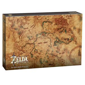 """USAopoly Legend Of Zelda Breath Of The Wild """"Hyrule World Map"""" 750 Piece Puzzle"""