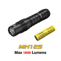 NITECORE MH12S 1800 Lumens USB-C Rechargeable Flashlight Torch + NL2150 Battery