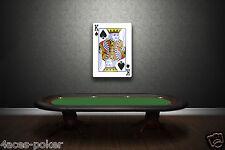 Poker Spades King Schild Casino Dekoration Bild Sign Acryl 3D Wandbild XXL Karte
