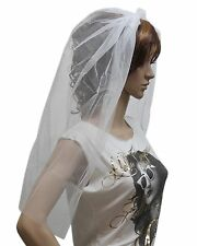 Fancy Dress Halloween Party White Veil Zombie Bride Blood Hen Night Head Band