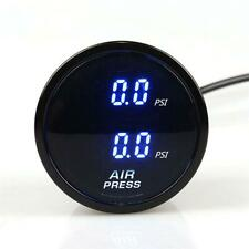2 Inch LED Dual Digital Air Pressure Gauge PSI Air Suspension Meter w/ 2 Sensors