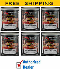 6 # 10 Cans - Rice Chicken - Mountain House Freeze Dried Emergency Food