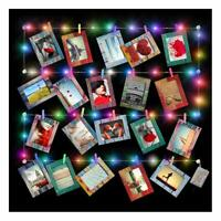 Artsay 20 Pack Paper Picture Frames 4x6 with Wood Clips and String Light, Multi