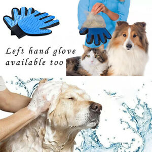 DESHEDDING GLOVE GENTLE AND EFFICIENT PET DOG CAT MASSAGE GROOMING BRUSH BATH