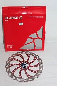 Clarks 160mm Wavey Disc Brake Rotor 160mm 6 bolt  Red w/bolts