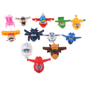 4/8/12Pcs Animation Super Wings Transforming Plane Toy Robot Character Kids Gift