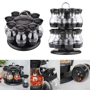 Spice Rack Kitchen Table Top Herbs Jars Container Organizer with Bottles