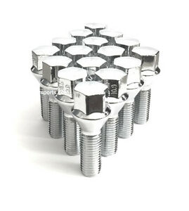 12X1.25 ACORN 28MM LUG BOLTS CHROME FIT JEEP RENEGADE 2015 2016 SET OF 20PCS