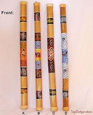 "Big Rain-Stick 39"" Ethnic Dot-Painted Rainmaker Shaker Percussion FREE SHIPPING"