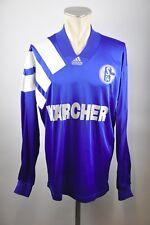 FC Schalke 04 Trikot Gr. L Kärcher Adidas 1994/95 Home 90er jersey Langarm