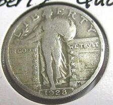 1928 Standing Liberty Silver Quarter - Collectible Silver Coin