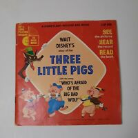 Walt Disney's story of the Three Little Pigs 33-1/2 Long Playing Record 1965 303