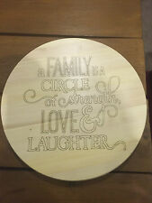Personalised Rotating Lazy Susan Wedding Anniversary Birthday Gift any name