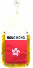 "Wholesale lot 12 Hong Kong Mini Flag 4""x6"" Window Banner w/ suction cup"