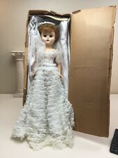 "Vintage 1950s Bonnie The Beautiful Bride 25"" Doll In Original Box De Luxe Dolls"