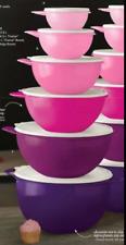 Tupperware Thatsa Bowls Set of 6 ~Pastel Shades of Purple & Pink White Seals New