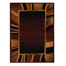 """Brown Contemporary Border Area Rug 5x8 Modern Carpet- Actual 5' 3"""" x 7' 5"""""""