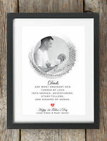 Personalised Happy Christmas Daddy Dad Photo Print Gift Present Frame First Xmas