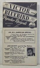October 1941 Victor and Bluebird records catalog