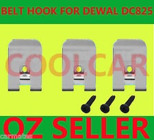 Driver Belt Hooks+3Screw for Dewalt 18v battery DC840 DC841 DC845 DC855 OZ