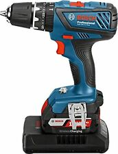 Bosch Professional GSB 18-2-LI Plus LS Drill (2 x 2.0Ah, L-BOXX) Blue Black Red