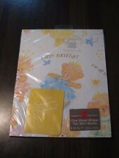 Vintage Wrapping Paper New/Sealed American Greetings Wedding/Kid/Birthday Lot x3