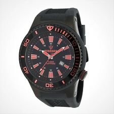POSEIDON Armbanduhr XL Black, Analog, Quarz, Silikon, 15Bar, UP00616