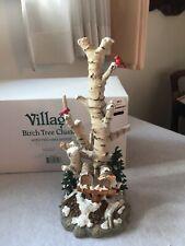 Birch Tree Cluster w/ 2 Mailboxes Dept 56 Village Accessories 52631