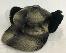 Elmer Fudd Hunting Hat Black & Gray Plaid Country Gentleman Made in USA