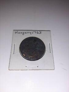 Hungary Poltura  1763 PHKM nice coin